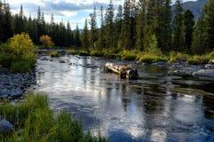 Rakhmanovskoe River in East Kazakhstan Royalty Free Stock Photos