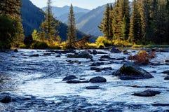 Rakhmanovskoe River in East Kazakhstan Stock Image
