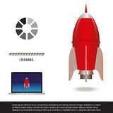rakieta Obrazy Royalty Free