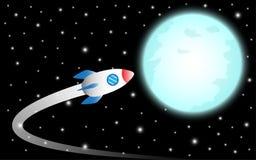 Rakieta Lata księżyc royalty ilustracja