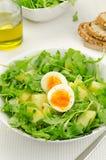 Rakietowa sałatka z grulami i jajkami obraz stock