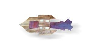 Rakietowa statek podróż odizolowywająca Kolaż sztuka handmade Zdjęcia Royalty Free