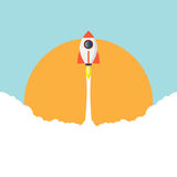 Rakietowej ikony płaski projekt Obrazy Royalty Free