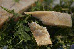 Rakietowi liście i Włoski ciężkiego sera szorstki cięcie fotografia stock