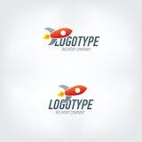 Rakietowy logotyp Szybki doręczeniowy samochód Zdjęcie Royalty Free