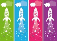 rakiety ilustracja wektor