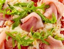 Rakiety i baleronu pizzy polewy tła tekstura Zdjęcie Stock