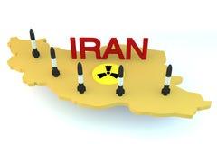Rakiety przygotowywać dla wodowanie od Iran modela Fotografia Stock