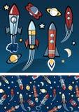 Rakiety w przestrzeni Zdjęcie Stock
