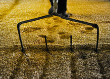 Raking malted barley Stock Photos