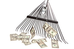 Raking in the Money Stock Images