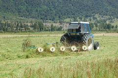 Raking pasture Stock Photos
