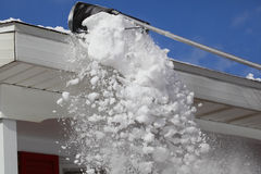Raking Snow stock images