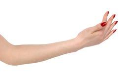 Raking up woman hand Stock Photos