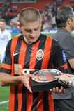 Rakitskiy Yaroslav gets an aword of best player of the match Stock Image