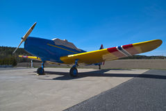 Rakkestad Airport, Aastorp (Fairchild PT-19) Royalty Free Stock Image