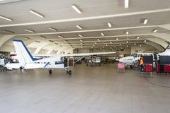 Rakkestad airport hangar Royalty Free Stock Image
