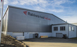 Rakkestad Hall, Østfold. The place where the Young Entrepreneurs was held March 12 to 13, 2014. Young Enterprise aims to inspire young people to innovate and Stock Images
