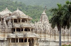 Raknapur Temple. The Raknapur Temple in Rajasthan in India stock image