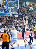 Rakocevic releases a basket Stock Photography