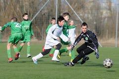 Rakoczi - Airnergy soccer game Stock Photography
