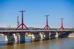 Rakoczi bridge pillars from Budapest Royalty Free Stock Photo