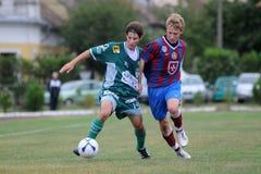 Rakoczi-Videoton bajo juego de fútbol 19 Imagen de archivo libre de regalías