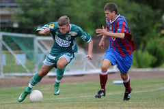 Rakoczi - Videoton u19 soccer game Stock Photos