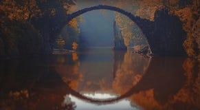 Rakotz most w wschodnim Germany fotografia royalty free