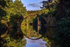 Rakotzbrucke - Kromlau-Германия Стоковые Фото