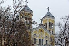 RAKOVSKI BUŁGARIA, GRUDZIEŃ, - 31 2016: Kościół Rzymsko-Katolicki Najwięcej świętego serca Jezus w miasteczku Rakovski Obrazy Stock