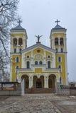 RAKOVSKI BUŁGARIA, GRUDZIEŃ, - 31 2016: Kościół Rzymsko-Katolicki Najwięcej świętego serca Jezus w miasteczku Rakovski obrazy royalty free