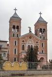 RAKOVSKI BUŁGARIA, GRUDZIEŃ, - 31 2016: Kościół Rzymsko-Katolicki St Michael archanioł w miasteczku Rakovski Obrazy Royalty Free