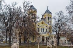 RAKOVSKI, BULGARIE - 31 DÉCEMBRE 2016 : L'église de Roman Catholic la plupart de coeur saint de Jésus dans la ville de Rakovski Images libres de droits