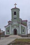 RAKOVSKI BULGARIEN - DECEMBER 31 2016: Roman Catholic den kyrkliga obefläckade befruktningen av den jungfruliga Maryen i stad av  Fotografering för Bildbyråer