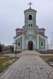 RAKOVSKI BULGARIEN - DECEMBER 31 2016: Roman Catholic den kyrkliga obefläckade befruktningen av den jungfruliga Maryen i stad av  Royaltyfri Bild