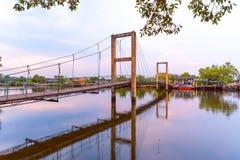 Raksamae-Brücke stockbilder