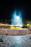 Raksawarin hot spring in Ranong, thailand,  night time Royalty Free Stock Photos