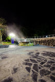 Raksawarin hot spring in Ranong, thailand,  night time Stock Photos