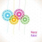 Raksha Bandhan庆祝的五颜六色的Rakhi 免版税图库摄影