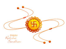 Raksha Bandhan庆祝的创造性的rakhi 免版税库存图片