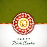 Raksha Bandhan庆祝的美丽的rakhi 免版税图库摄影