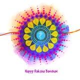 Raksha Bandhan庆祝的美丽的rakhi 免版税库存照片