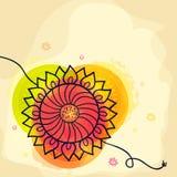 Raksha Bandhan庆祝的美丽的rakhi 库存图片