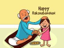 Raksha Bandhan庆祝的逗人喜爱的女孩 免版税库存图片