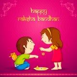 Raksha Bandhan. Vector illustration of brother sister in raksha bandhan Vector Illustration