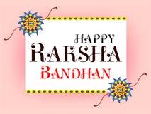 Raksha Bandhan Celebration Background feliz Imagen de archivo