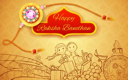 Raksha Bandhan doodle Royalty Free Stock Photography