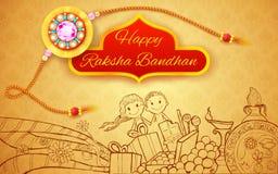 Raksha Bandhan doodle Royalty Free Stock Photography
