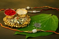 Raksha bandhan lub Rakhi, Indiański festiwal zdjęcie stock